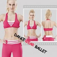 Halter Stripe Yoga Clothing Bra And Pants