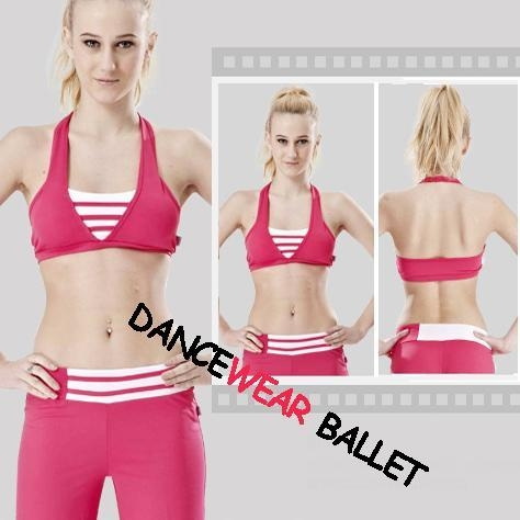 Quality Halter Stripe Yoga Clothing Bra And Pants for sale