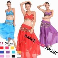 China Eleven Colors Sequin Beads Belly Dancewear Bra And Skirts wholesale
