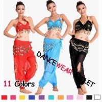 China Eleven Colors Sequin Beads Belly Training Dancewear Bra And Pants wholesale