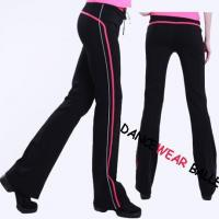 China Contrast Color Drawstring Dance Training Pants wholesale