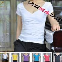 China V-Neck Open Back Dance Active & Fitness Practise Top wholesale