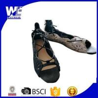 China 2017 popular ladies PU fancy sandal with calceus style wholesale