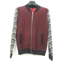 China Latest sleeve splice design man zipper cardigan with side pocket wholesale