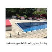 China frameless toughened swimming pool child safety glass fencing wholesale
