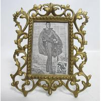 China Antique Ornate Gilded Cast Iron Photo Frame With Stand Easel 1800s Yqz Ebay on sale