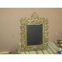 China Vintage Antique Ornate Metal Cast Iron Mirror Picture Frame 12 Quot X16 Quot Easel Back Ebay on sale