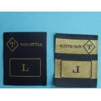 Metallic hot cut woven garment label