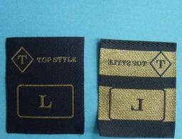 Quality Metallic hot cut woven garment label for sale