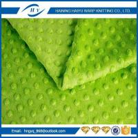Buy cheap 100% polyester embossing print minky-dot plush velboa fabric for baby clothing from wholesalers