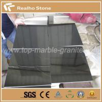 China Nero Marquina Black Marble Flooring TIles / Table Top on sale