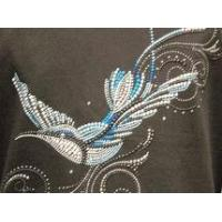 China Christine Alexander gorgeous blue bird Sweatshirt Medium only wholesale