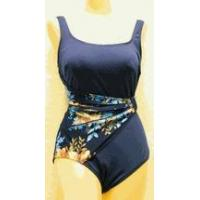 China Swimwear SOLD OUT Roxanne navy & floral draped sash swimsuit wholesale