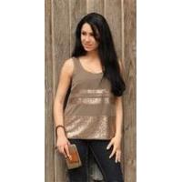 China Simply Noelle shirt Cocoa sequin sheer tank top Size L/XL wholesale