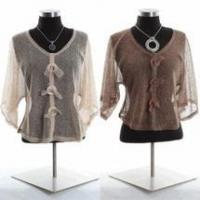 China Simply Noelle mesh jacket Bolero shirt Camel or brown one size wholesale