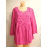 China Simply Noelle shirt Orchid pink top 3/4 Bell Sleeve Top w/Crochet size small medium wholesale