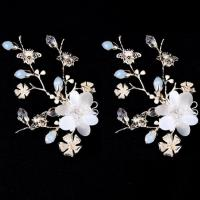 China New Design Flower Wedding Headpiece Bridal Hair Clip Piece Bridal Hair Accessory wholesale