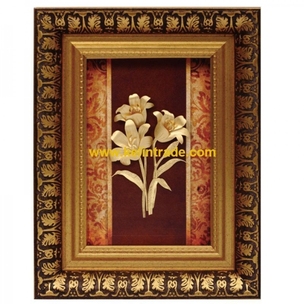Quality 3D gold foil flower collection frame best home deoration for sale