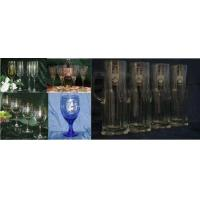 China Unique Wine Glasses with Decorative Coat of Arms on Each Wine Glass wholesale