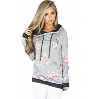 China Casual Floral Printed Hoodie Item NO: LC250266-11 wholesale