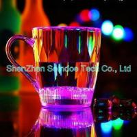 China Cheap button cell battery powered led drinking glass on sale