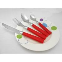 China Stainless Steel Plastic Handle Spoon Fork Knife Set wholesale