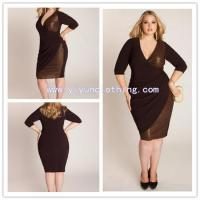China mature woman's formal plus size dresses on sale
