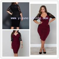 China Lace red lady fashion plus size clothing newest on sale