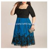 China 2014 day casual plus size dress for fat women on sale