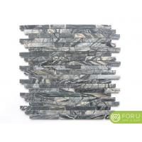 China Polsihed Forest Black Marble Brick Mosaic For Bathroom Flooring And Wall Tile And Kitchen Backsplash on sale