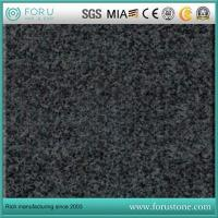 China Dark Grey G654 and Chinese Impala Sesame Grey Granite Slabs Discount Cost on sale
