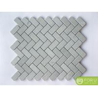 China Cinderella Gray 1x4 Herringbone Marble Mosaic Wall Tile Pattern For Bathroom Flooring And Wall Tile on sale