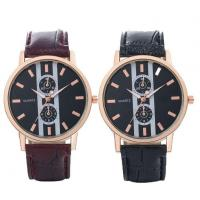 China Black Strap Rose Gold Color Alloy Watch Leather Band Watches for Men 40mm on sale