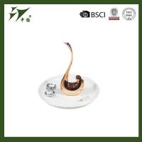 Buy cheap White ceramic ring jewelry holder with swan from wholesalers