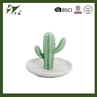 China ceramic cactus ring holders for wholesale jewelry tray wholesale