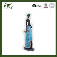 China High quality polyresin African woman, resin craft black lady figurines wholesale