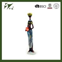 China Custom made home decoration polyresin black lady figurines wholesale