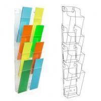 China Acryl Display Wall Mount 8-Pocket Literature Rack for Brochures on sale