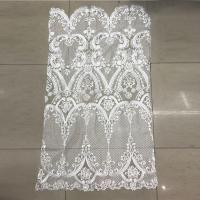 China Ivory Embroidered Bridal Lace Fabric by the Yard for Wedding Dresses on sale