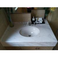 China Volakas White Marble Bathroom Vanity Tops with 25 31 43 Inch Bathroom Vanity and Undermount Sink wholesale