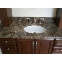 China Brown Dark Emperador Marble Bath Vanity Top for Marble Bathroom Vanity wholesale