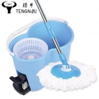 China Microfiber 360 Spinning Easy Home Mop Bucket 2 Rotating Heads with Deluxe Cleaning System wholesale