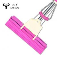 China PVA Sponge Rubber Household Free Hand Stainless Steel Roller Type Absorbent Sponge Magic Mop wholesale
