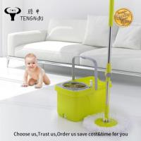 China 2017 Big Square Bucket with Wheels Cleaning 360 Spin Mops wholesale
