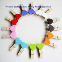 China Creative Gifts HP-OFBC008Wholesale Wooden Colored Clips on sale