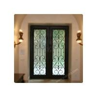 Wrought iron door Square Hand forged wrought iron double entry door SY-DR-M6018-STSP