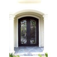 Wrought iron door Eyebrow arch Hand forged wrought iron double entry door SY-DR-M6035-ETEP
