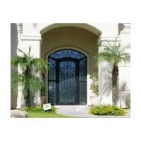 Wrought iron door Eyebrow arch transom Hand forged wrought iron entry single door SY-DR-M6031-ETSP
