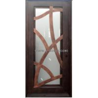 Flat top Hand forged wrought iron Single entry door SY-SR-M6012-ETEP