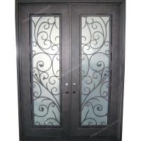 Wrought iron door Square top Hand forged wrought iron double entry door SY-DR-M6024-STSP